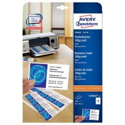 Balts vizītkaršu papīrs C32010, Avery Zweckform