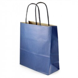 Papīra maisiņš ar rokturiem zils/zaļš/sarkans