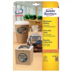 Kraftpapīra uzlīmes, Avery Zweckform