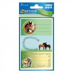 Grāmatu un burtnīcu uzlīmes 59681 (zirgi), Avery Zweckform
