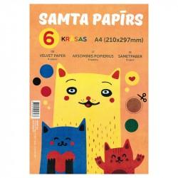 Samta papīrs 6 krāsas A4