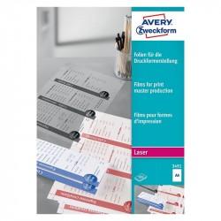 Plēve poligrāfijas iespiedformu izgatavošanai 3491, Avery Zweckform