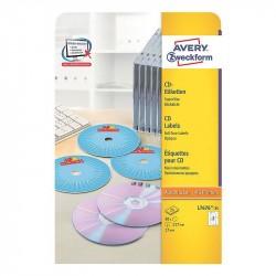 CD/DVD uzlīmes L7676, Avery Zweckform