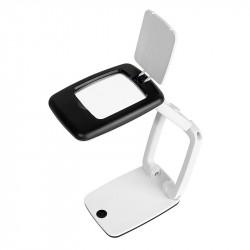 Portatīvs galda palielināmais stikls ar LED apgaismojumu, Wedo