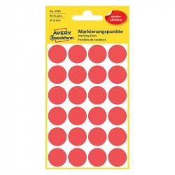 Noņemami krāsaini aplīši ∅18 mm, Avery Zweckform