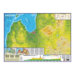 Latvijas fizioģeogrāfiskā sienas karte, Jāņa Sēta
