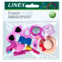Dzēšgumijas 3D 10 gab., Linex
