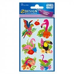 Uzlīmes 57046 (papagaiļi un flamingo), Avery Zweckform