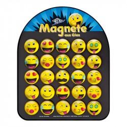 Stikla magnēti Emoji ⌀35 mm, Wedo