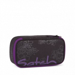 Satch Pencil Box Purple Hibiscus