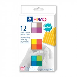Fimo komplekts Brilliant Colours 12 gab., Staedtler