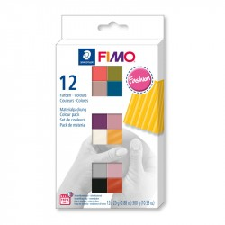 Fimo komplekts Fashion Colours 12 gab., Staedtler
