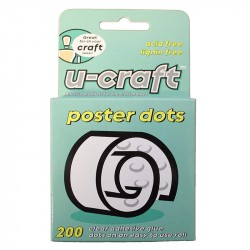 Līmes aplīši U-craft Poster Dots Ø10 mm 200 gab.
