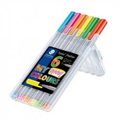 Flomastera pildspalva Triplus Fineliner Neon 334, Staedtler