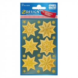 Uzlīmes 52808 (zelta zvaigznes ar sniegpārsliņu motīvu), Avery Zweckform