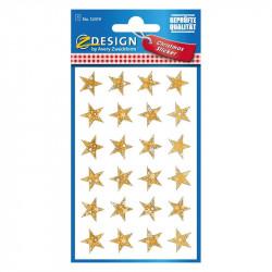 Uzlīmes 52419 (zvaigžņotas zelta zvaigznes), Avery Zweckform