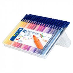 Flomāsteri 323 Triplus® Color 40 krāsu komplekts, Staedtler