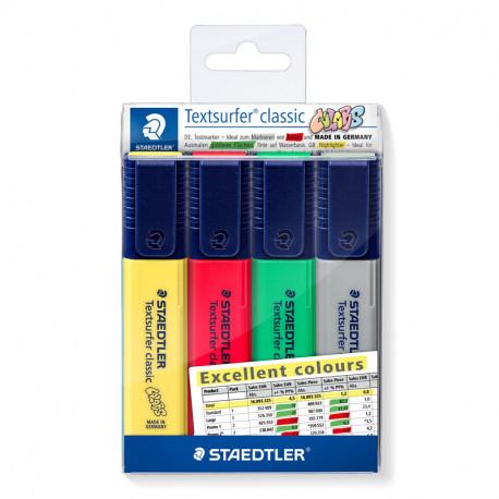 Teksta marķieru komplekts Textsurfer Classic Excellent Colours 364CWP4-X, Staedtler