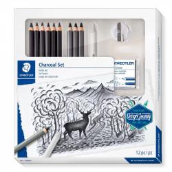 Zīmēšanas piederumu komplekts Mars® Lumograph® Charcoal 100C, Staedtler