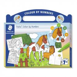 Flomāsteru komplekts Triplus® Colour by Numbers Horses, Staedtler