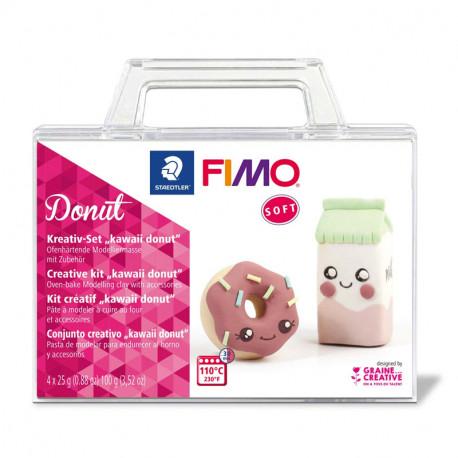 Fimo® Soft komplekts Kawaii Donut, Staedtler