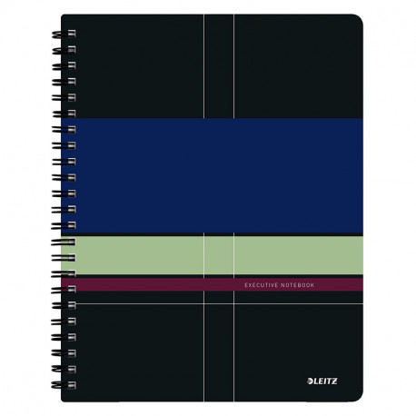 Leitz Executive Notebook A5 squared, wirebound with PP cover