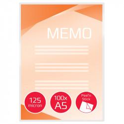 Laminēšanas plēve ar pašlīmējošu aizmuguri Peel'nStick™ A5 125 mic. 100 gab., GBC