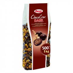 Kraukšķīgas pārslas tumšajā šokolādē Zaini Cioco Croc Dark 1000 g