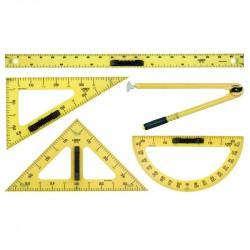 Linex tāfeles lineālu komplekts un statīvs
