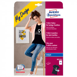 Plēve T-kreklu apdrukai (tumšiem audumiem), Avery Zweckform