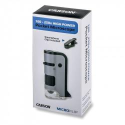 Kabatas mikroskops MicroFlip™ 100-250X, Carson Optics