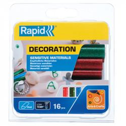 Krāsainas līmes stienīši karstumjutīgiem materiāliem 130˚C, Rapid