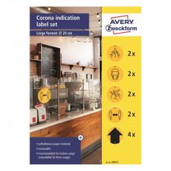COVID-19 drošības piktogrammu komplekts 49415, Avery Zweckform