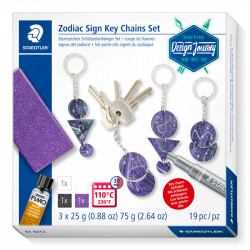 Komplekts Design Journey Trend Set Zodiac Sign Keychain, Staedtler