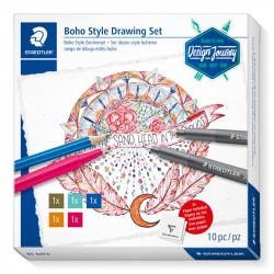 Komplekts Design Journey Trend Set Boho Style Drawing, Staedtler