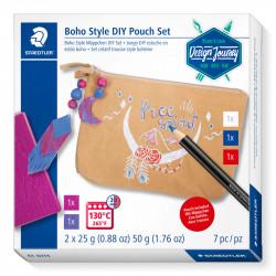 Komplekts Design Journey Trend Set Boho Style  DIY Pouch, Staedtler