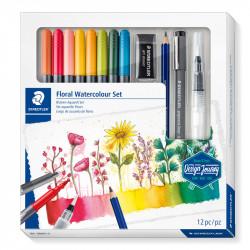 Zīmēšanas piederumu komplekts Design Journey Floral Watercolour Set, Staedtler