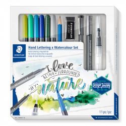 Zīmēšanas un rakstāmpiederumu komplekts Design Journey I Love Nature Set, Staedtler