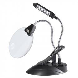 Galda palielināmais stikls ar LED apgaismojumu, Wedo