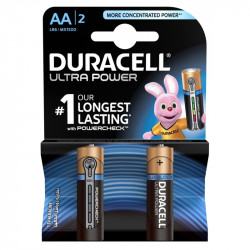 Baterijas Duracell Ultra Power AA 1.5V 2 gab.