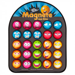 Stikla magnēti Emoji (krāsaini) ⌀35 mm, Wedo