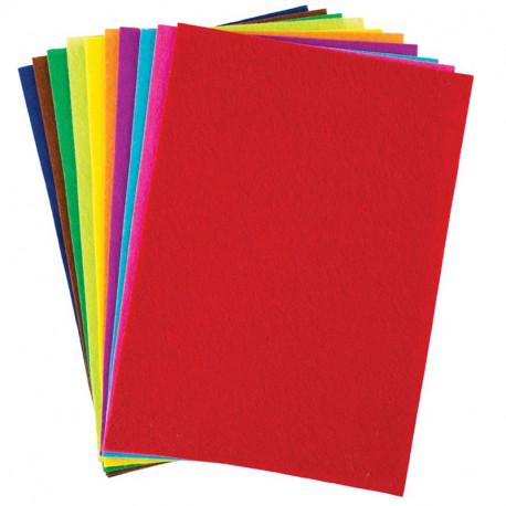 Filca auduma lapas A4 10 krāsas, Centrum