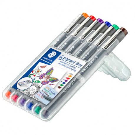 Flomāstera pildspalvu komplekti Pigment Liner 308, Staedtler
