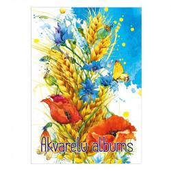 Akvareļu papīra bloks A3 210 g/m², ABC Jums