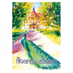 Akvareļu papīra bloks A4 210 g/m², ABC Jums