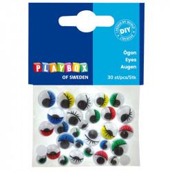 Actiņas ar skropstām 30 gab., Playbox