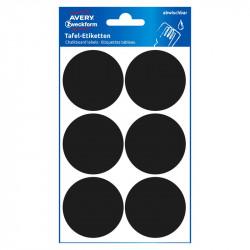 Chalkboard Labels Ø48 mm, Avery Zweckform