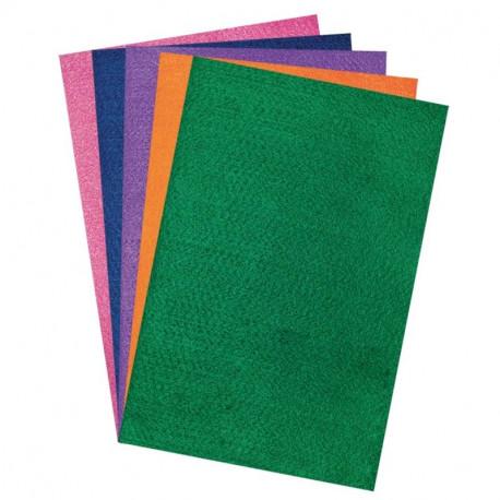 Filca auduma lapas A4 Bright 5 krāsas, DP Craft
