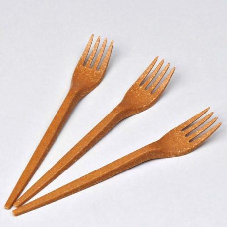 Wood Fibre Fork 17 cm Reusable 80 pcs.