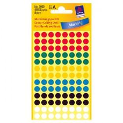 Krāsaini aplīši ∅8 mm, Avery Zweckform